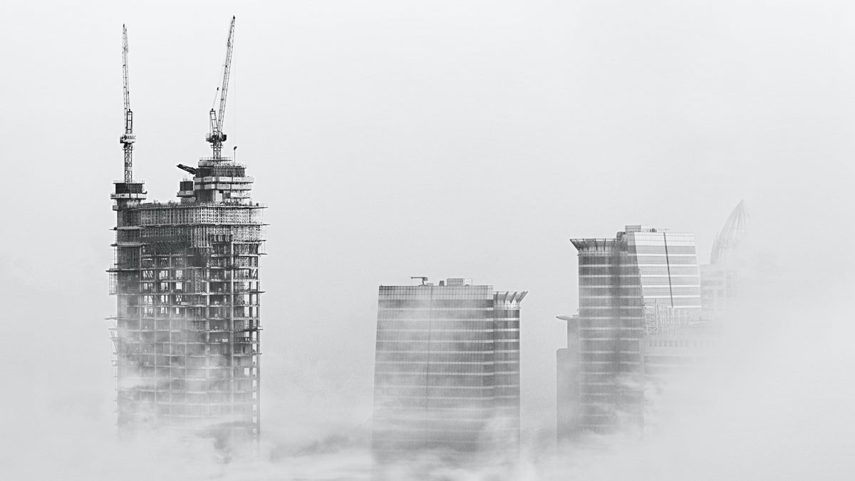 Ilustrasi konstruksi gedung.