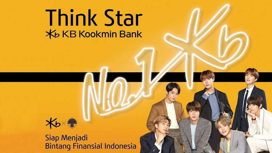 Poster Bank Korea Selatan, KB Kookmin Bank.