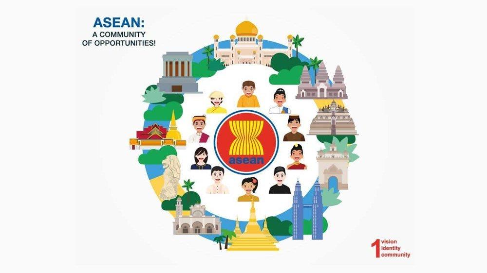 Ilustrasi masyarakat ekonomi ASEAN.