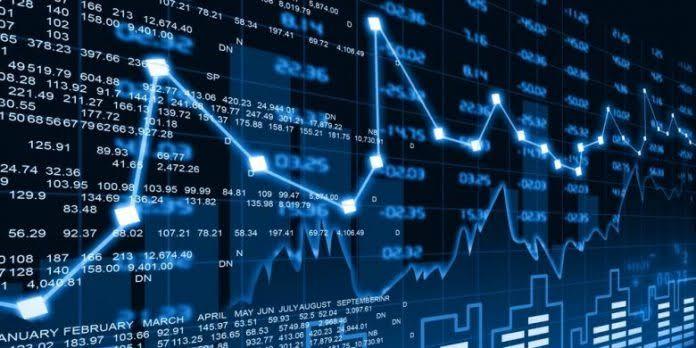 Ilustrasi grafik saham