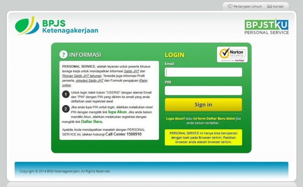 website bpjs ketenagakerjaan