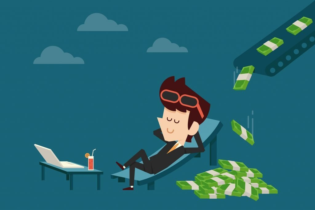 Ilustrasi passive income atau pendapatan pasif