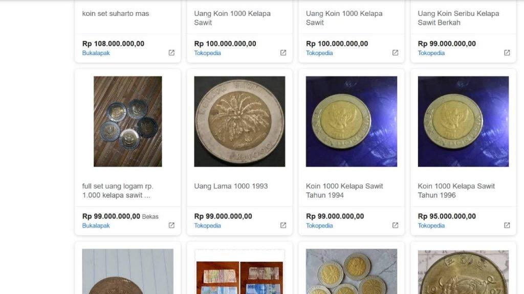 Uang Koin Rp1.000 Kelapa Sawit