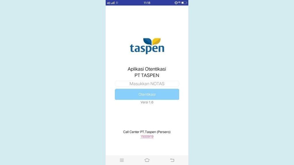 Aplikasi Otentikasi Taspen