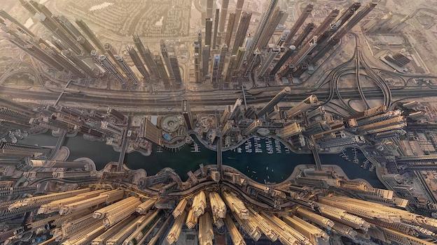 Kota Dubai dari langit