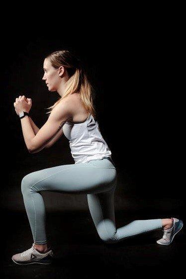 gerakan workout lunge
