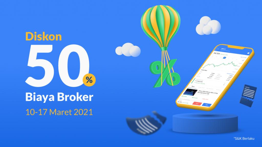 Potongan Biaya Broker 50%